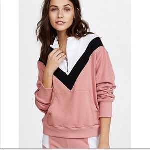 NWT Wildfox Blocked Soto Warm Up Top with zipper